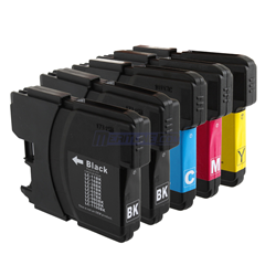 Brother LC61 (LC 61, LC61BK, LC61C, LC61M, LC61Y) Compatible Inkjet Cartridge Combo 5pk