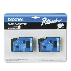 "Brother TC22 Brother P-Touch 1/2"" Blue on White Tape"