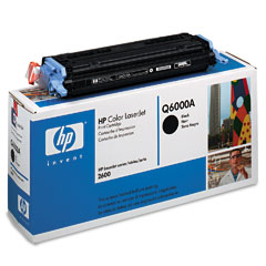 HP Color LaserJet 1600, 2600 BlackToner Cartridge (Q6000A)
