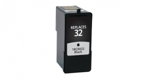 Lexmark 18C0032 (#32) Black Ink cartridge- Remanufactured