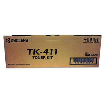Kyocera Mita TK411 (TK-411) laser toner cartridge- Black (Genuine)
