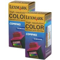 Lexmark 15M1335 (12A1980) Color InkJet Cartridges