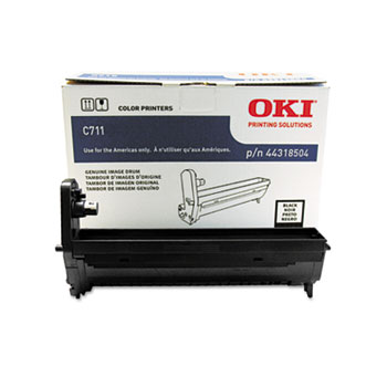 OKI Data 44318504 Black Image Drum for C711 Series Printers
