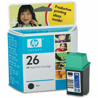 HP 51626A ( HP 26 ) Black Inkjet Cartridge