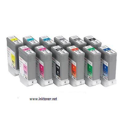 Canon Complete 130ml Ink Tanks for iPF5100, iPF6100 (1967B004AA) 12 Pack