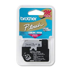 "Brother M931 Black on Silver Metallic Label Maker (1/2"" x 26'"