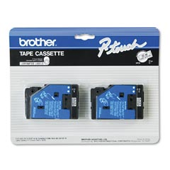 Brother TC10 Brother P-Touch Black on Clear Tape