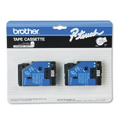 "Brother TC20 Brother P-Touch 1/ 2"" Black on White Tape"