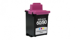 Lexmark #80 (12A1980)/#60 (17G0060) Color Ink Cartridge Remanufactured