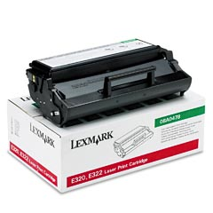 Lexmark 08A0478 Black Prebate High Yield Laser Toner Cartridge