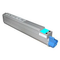 Okidata 52124003 Premium Remanufactured Cyan Laser Toner Printer Cartridge